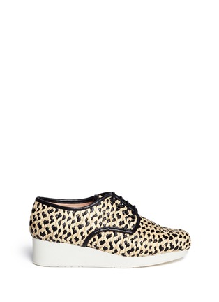 Main View - Click To Enlarge - Robert Clergerie - Woven raffia Oxford shoes