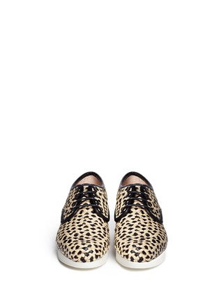 Figure View - Click To Enlarge - Robert Clergerie - Woven raffia Oxford shoes