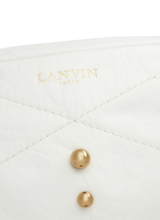 Detail View - Click To Enlarge - Lanvin - 'Baby Sugar' metal pearl leather crossbody bag