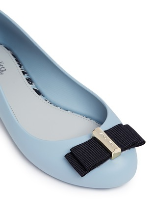 Detail View - Click To Enlarge - Melissa - x Jason Wu 'Space Love II' bow PVC flats