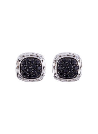 Main View - Click To Enlarge - John Hardy - Sapphire silver square stud earrings
