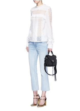 Figure View - Click To Enlarge - Rebecca Minkoff - 'Darren' small pebbled leather satchel