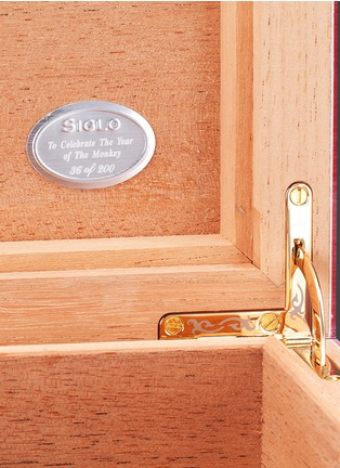 Detail View - Click To Enlarge - SIGLO ACCESSORY - Year of the Monkey limited edition humidor