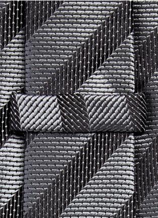 Detail View - Click To Enlarge - Armani Collezioni - Stripe repp tie