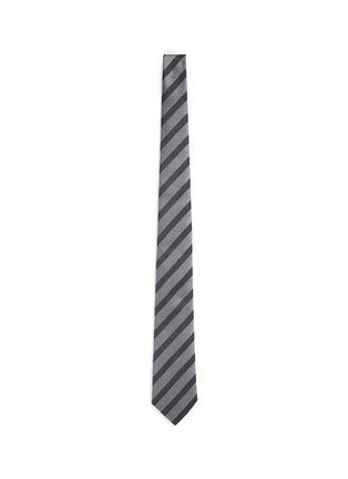Main View - Click To Enlarge - Armani Collezioni - Stripe repp tie