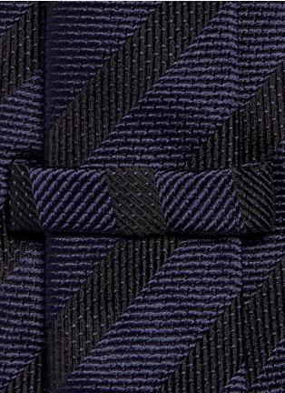 Detail View - Click To Enlarge - ARMANI COLLEZIONI - Stripe silk tie