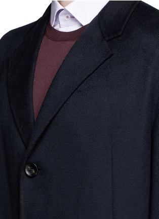 Detail View - Click To Enlarge - Armani Collezioni - Cashmere flannel coat