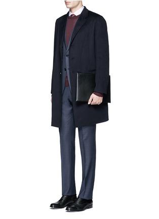 Figure View - Click To Enlarge - Armani Collezioni - Cashmere flannel coat