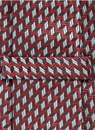 Detail View - Click To Enlarge - Armani Collezioni - Arrowhead jacquard tie