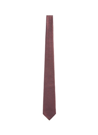 Main View - Click To Enlarge - Armani Collezioni - Arrowhead jacquard tie