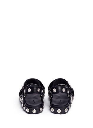 Back View - Click To Enlarge - Alexander Wang  - 'Aiden' snap stud leather platform sandals