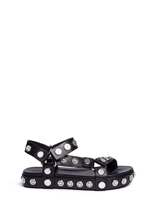 Main View - Click To Enlarge - Alexander Wang  - 'Aiden' snap stud leather platform sandals