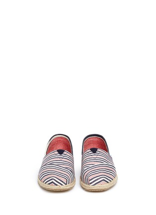 Front View - Click To Enlarge - 90294 - Classic stripe canvas slip-on