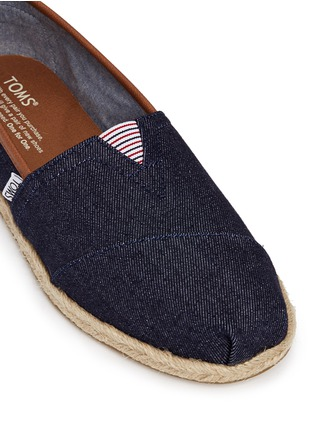 Detail View - Click To Enlarge - 90294 - Classic denim espadrille slip-ons