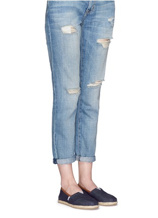 Figure View - Click To Enlarge - 90294 - Classic denim espadrille slip-ons