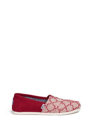 Main View - Click To Enlarge - 90294 - Classic embroidered canvas slip-ons