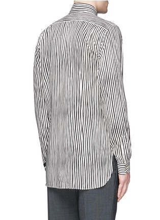 Back View - Click To Enlarge - Paul Smith - Paint print stripe cotton-modal-cashmere shirt