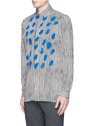 Front View - Click To Enlarge - Paul Smith - Paint print stripe cotton-modal-cashmere shirt