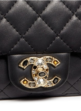 Detail View - Click To Enlarge - Vintage Chanel - Mini crystal lock quilted leather bag