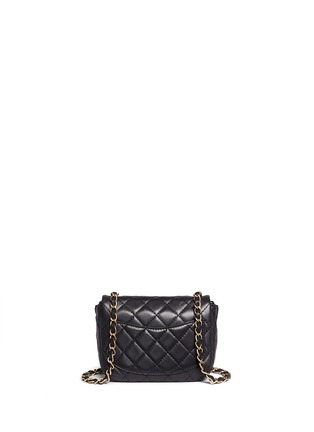 Back View - Click To Enlarge - Vintage Chanel - Mini crystal lock quilted leather bag