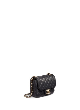 Figure View - Click To Enlarge - Vintage Chanel - Mini crystal lock quilted leather bag
