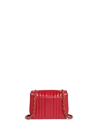 Back View - Click To Enlarge - VINTAGE CHANEL - Quilted caviar leather mini flap bag
