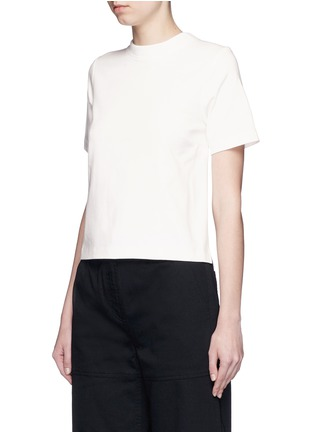 Front View - Click To Enlarge - T By Alexander Wang - Open back cotton T-shirt
