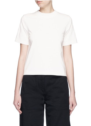 Main View - Click To Enlarge - T By Alexander Wang - Open back cotton T-shirt