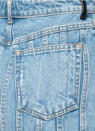 Detail View - Click To Enlarge - T By Alexander Wang - Seamed A-line denim skirt