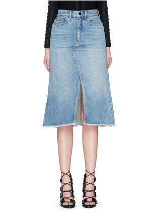 Main View - Click To Enlarge - T By Alexander Wang - Seamed A-line denim skirt