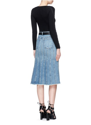 Figure View - Click To Enlarge - T By Alexander Wang - Seamed A-line denim skirt