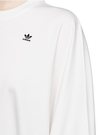 Detail View - Click To Enlarge - ADIDAS X HYKE - 'HY Asymtry Big' jersey dress