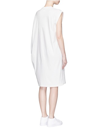Back View - Click To Enlarge - ADIDAS X HYKE - 'HY Asymtry Big' jersey dress