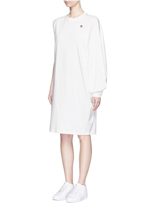 Front View - Click To Enlarge - ADIDAS X HYKE - 'HY Asymtry Big' jersey dress