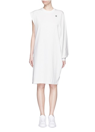 Main View - Click To Enlarge - ADIDAS X HYKE - 'HY Asymtry Big' jersey dress