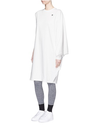 Figure View - Click To Enlarge - ADIDAS X HYKE - 'HY Asymtry Big' jersey dress