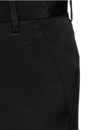 Detail View - Click To Enlarge - Tibi - Wide leg silk morocain shorts