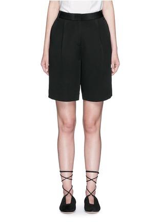 Main View - Click To Enlarge - Tibi - Wide leg silk morocain shorts