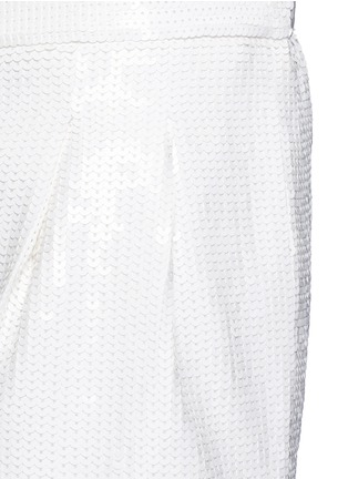 Detail View - Click To Enlarge - Tibi - Allover sequin silk Bermuda shorts