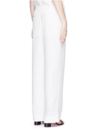 Back View - Click To Enlarge - Tibi - Crinkled wide leg cargo pants