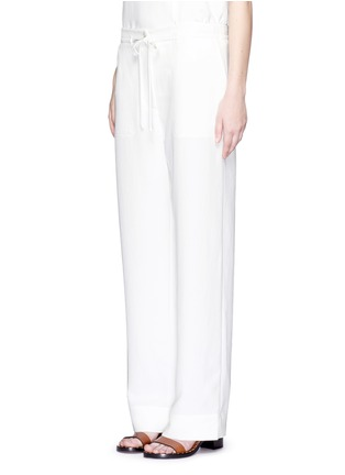 Front View - Click To Enlarge - Tibi - Crinkled wide leg cargo pants