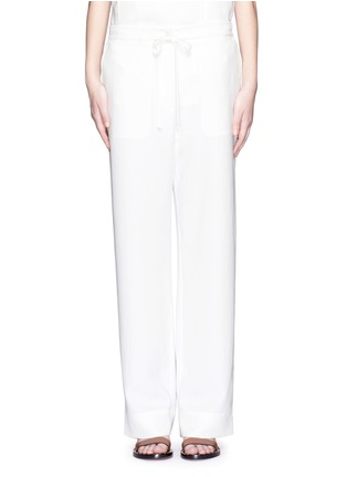 Main View - Click To Enlarge - Tibi - Crinkled wide leg cargo pants