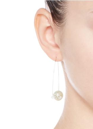 Figure View - Click To Enlarge - Mizuki - 'Sea of Beauty' diamond star 14k gold wire pearl drop earrings
