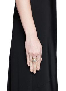 Spinelli Kilcollin 'Nexus' diamond 18k gold five link ring