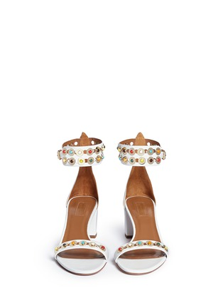 Front View - Click To Enlarge - Aquazzura - 'Byzantine' stud leather sandals