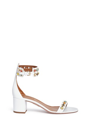 Main View - Click To Enlarge - Aquazzura - 'Byzantine' stud leather sandals