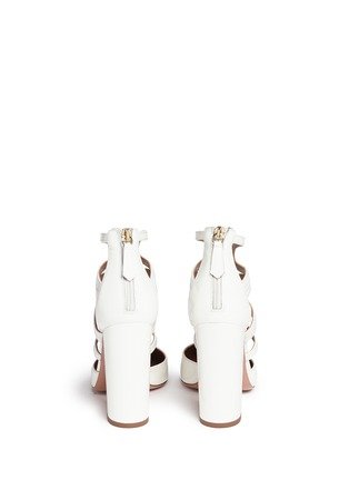 Back View - Click To Enlarge - Aquazzura - 'Holli' caged patent leather pumps