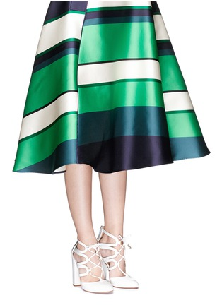 Figure View - Click To Enlarge - Aquazzura - 'Holli' caged patent leather pumps