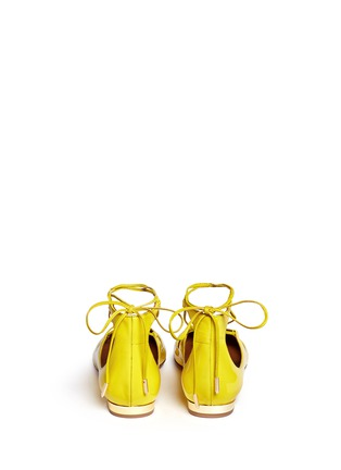 Back View - Click To Enlarge - Aquazzura - 'Christy' lace-up patent leather flats