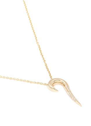 Detail View - Click To Enlarge - MICHELLE CAMPBELL - 'Galaxy Curl' pendant diamond 14K gold necklace